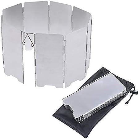 ウインドスクリーン 防風板 折り畳み式 アルミ製 アウトドア 登山用 風よけ 収納袋付属 135mm×660mm