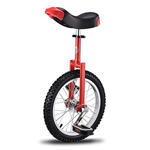 SSZY Einrad 16 Zoll Einräder für Anfänger/Jugendliche, mit Auslaufsicherem Butylreifenrad, Balance Scooter für Fitness/Bewegung/Berg (Color : Red)