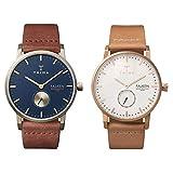 [トリワ] ペアウォッチ 腕時計 FALKEN LOCH FAST104-CL010217 ゴールドケース レザーベルト FALKEN ROSE FAST101-CL010614 ローズゴールドケース レザーベルト
