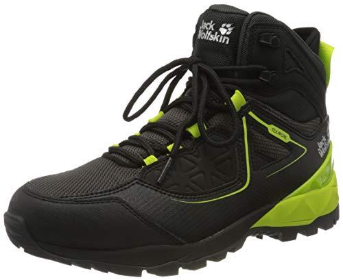 Jack Wolfskin Herren Cascade Hike XT Texapore MID M Trekking- & Wanderstiefel, Schwarz (Black/Lime 6084), 42 EU