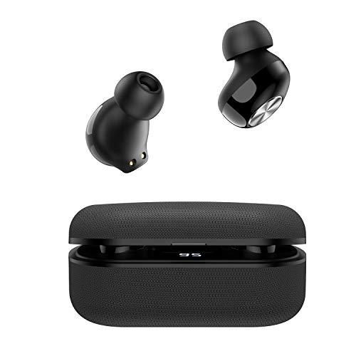 WinCret Écouteurs Bluetooth sans Fil, Ecouteur Bluetooth 5.0 Hi-FI Stéréo Oreillette, IPX5 Étanche, Built-in Mic, 40 Heures d'Autonomie, Affichage LED, Appariement Automatique, pour iOS Android