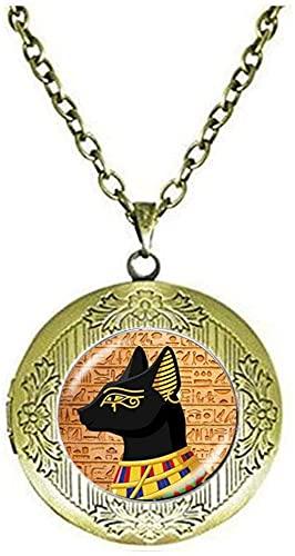 Collar antiguo de Dioses de gato egipcio con medallón para el antiguo Egipto, joyería de arte para fotografía, regalo de cumpleaños