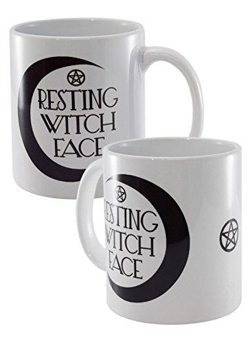 Resting Witch Face White Mug