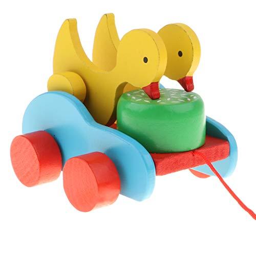 Ziehtier aus Holz, Nachzieh-Tier, Kinder Nachziehspielzeug, tolles Spielzeug für kleine Laufanfänger