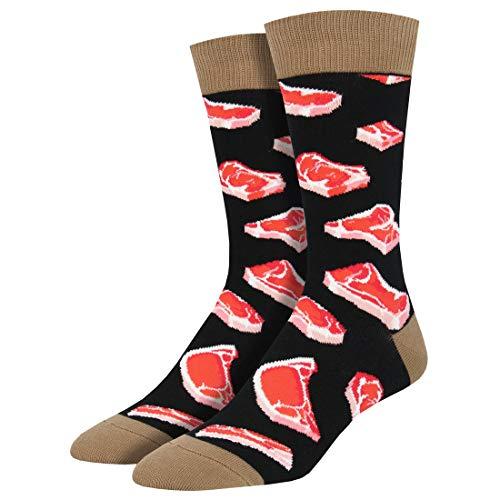 Socksmith Herren Socken Mit Bunten Lustigen Motiven Einheitsgröße (Schwarz, Einheitsgröße)