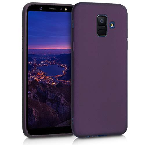 kwmobile Hülle kompatibel mit Samsung Galaxy A6 (2018) - Hülle Handy Metallic Brombeere