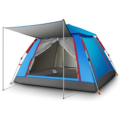 YaNanHome Im Zelt Zelt Zelt Verdickung Regen Zelt 3-4 Personen Zelt Zelt im Freien Zelt (Color : Blue, Size : 215 * 215 * 142cm)