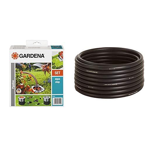 Gardena Start-Set für Garten-Pipeline: Wassersteckdosen & Sprinklersystem Verlegerohr: Die zentrale Versorgungsleitung für das Gardena Sprinklersystems, Außendurchmesser 25 mm, 50 m-Rolle