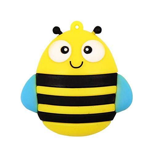 64 GB USB Flash Drive Novità Animal Bee Shape Pen Drive Super Cute Bee Cartoon Thumb Drive Memory Stick Memoria USB 2.0 Pendrive - Civetman
