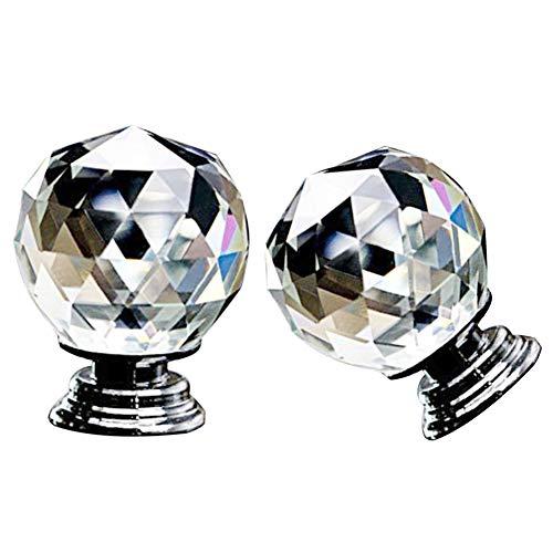 dljztrade deurknop, 40 mm faux kristallen bal ronde heldere kast kast kast deur lade Pull handvat knop