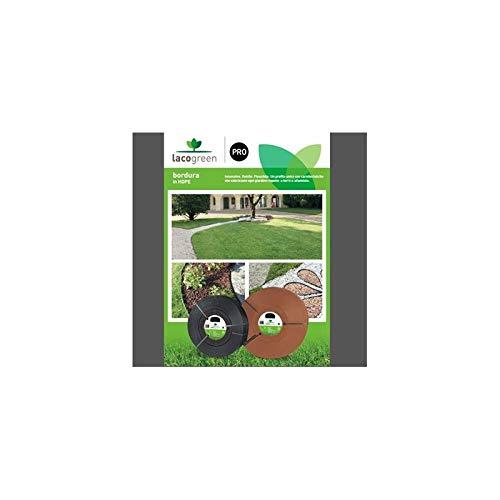 LACOGREEN Kit Bordure Cacao MT 65 mm 4,5 Décoration de Jardin ductile Flexible