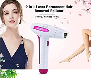 Jukkre Permanent Hair Removal for Women And Men (300000 Flashes) - Painless - Skin Sensor - Laser Hair Removal Devices for Women Home Use, Remove hair for Face & Body & Bikini