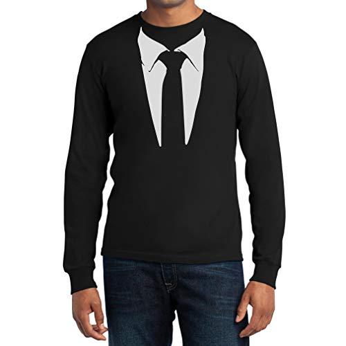 Gedruckter Anzug/Legendäre Stinson Krawatte Barney - Tuxedo Kostüm Party Langarm Schwarz Large T-Shirt