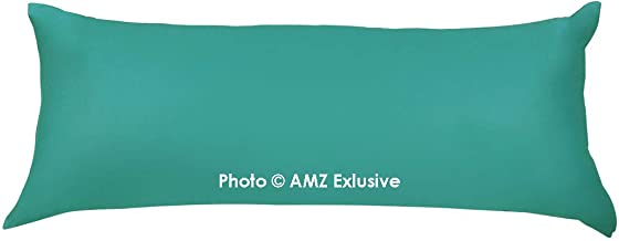 "AMZ Soft Microfiber Body Pillow Cover 21""x 54"" with Zipper Closure (Set of 1) (Mint Green)"