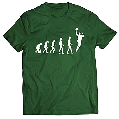 lepni.me Camisetas Hombre Evolución Baloncesto Baloncesto Callejero Me Encanta Este Juego Regalo para Fans (XXL Verde Oscuro Multicolor)