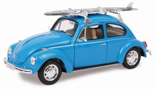 Small foot company - 9318 - Véhicule Miniature - Modèle À L'échelle - Voiture - VW Beetle + Planche De Surf - Echelle 1/24