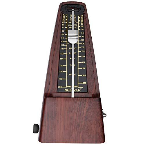 Neewer NW-707 Pyramid Wind up mechanischen Metronom genaues Timing und Tempo für Klavier Gitarre Bass Drum Violine und andere Musikinstrumente Teak
