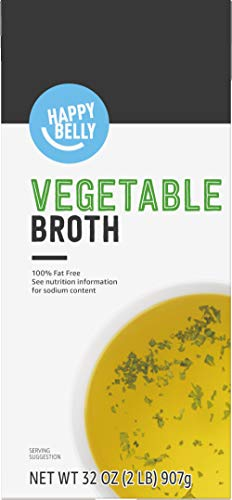 Amazon brand - Happy Belly Veggie Ready to Serve Broth, 32 Ounce