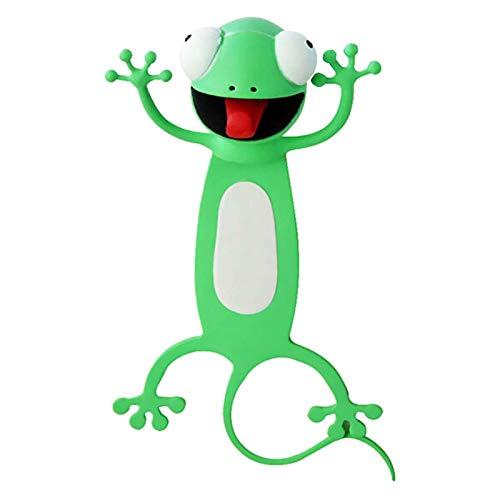 Luckxing 3D-Cartoon Tier-Lesezeichen, Lesezeichen Tier, Lesezeichen Kinder, 3D-Stereo-Cartoon Schön Tier Lesezeichen Geschenk Für Kinder Und Erwachsene (Frosch)