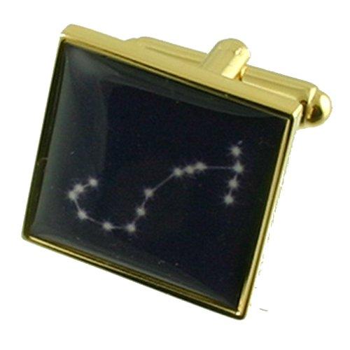 Select Gifts Scorpio Zodiac Gold Star anniversaire manchette avec pochette choisir des cadeaux