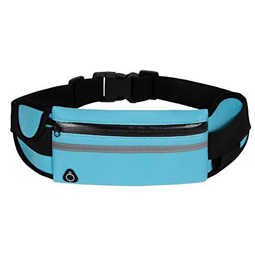 Running Belt Waist Packs,Workout Fanny Pack,Ultra Light Bounce Free Waist Pouch Fitness Workout Belt Sport Waist Pack for Women Men,Adjustable Waistband Bag for All Kinds of Phone (Blue)