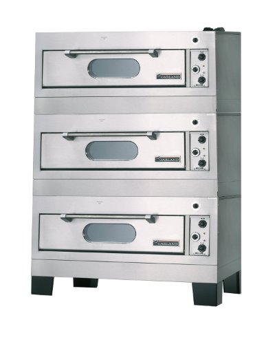 Garland E2111 Electric Triple Deck Bake Oven with 3/4' Core Plate Hearths & 39'W x 28-1/4'D x 8'H Intertior Dimensions (per deck)