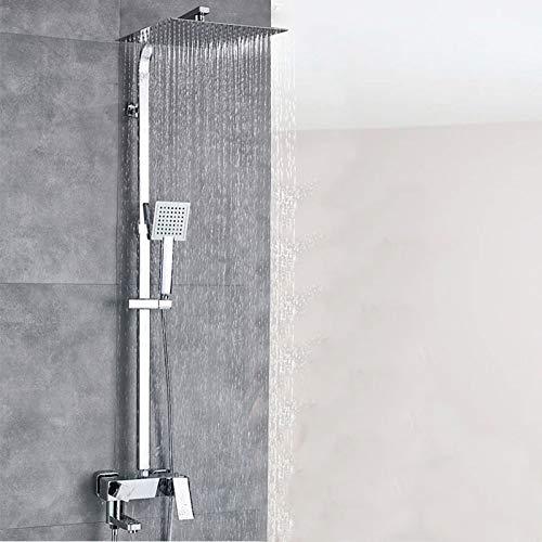 DAMO&GUYAN Juego de grifos de ducha de lluvia de lujo de 12 pulgadas, mezclador de ducha de baño de una manija, grifo de ducha con cabezal de lluvia de acero inoxidable,Cabezal de ducha de 12 pulgadas