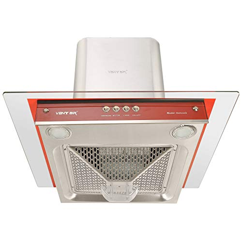 Ventair Kitchen Chimney 60 cm 1050 m3/hr Made in India (Hotcook, Push Button, Colour- Red, Filterless Technology)