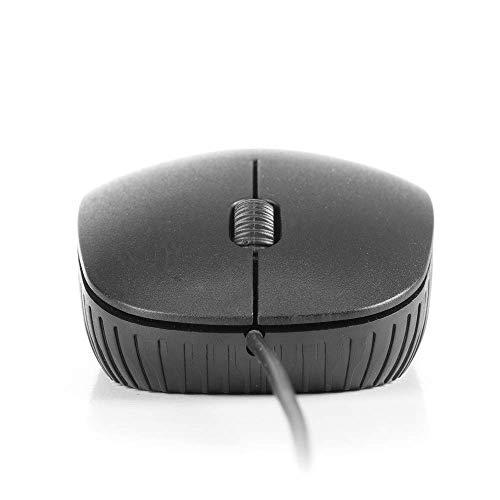 Raton Óptico con cable NGS FLAME BLACK. 1000 Dpi, 3 BOTONES, AMBIDIESTROS. PLUG&PLAY. COLOR NEGRO.
