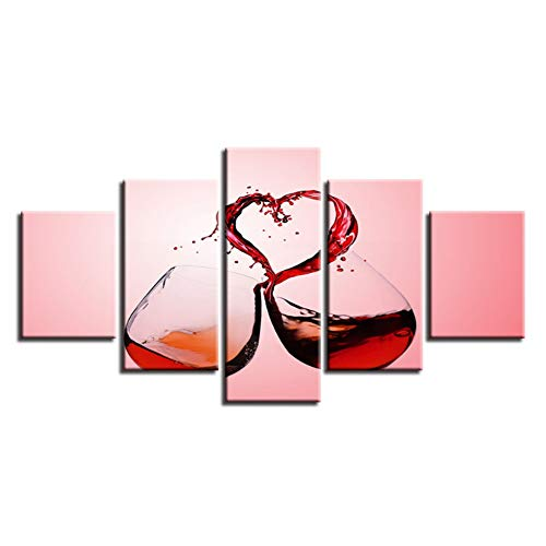 sjkkad rode wijn mokken muur HD gedrukt moderne decoratie canvas schilderij kunst poster foto's woonkamer 40x60x2 40x80x2 40x100 cm geen lijst