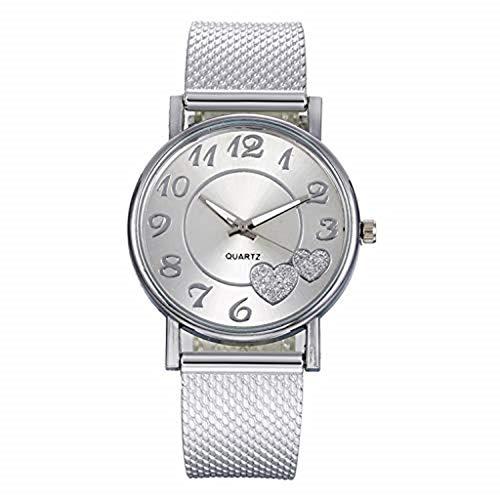 Uhr Armbanduhren Männer Damenuhren Hansee Mode Damen Herz Silikon Mesh Gürtel Runde Armbanduhr Frauen Kreative Geschenk Für Mädchen Uhren Wrist Watches(E)