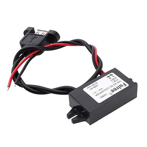 Gazechimp Waterproof IP67 Power Supply Buck Regulator 8-60V to 5V 3A with USB