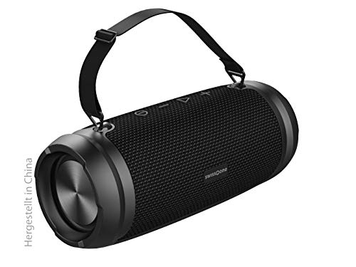 swisstone BX 580 XXL Bluetooth Lautsprecher (Wasserdicht nach IPX6, Freisprechfunktion, X-Bass für satten Sound, Powerbank Funktion)