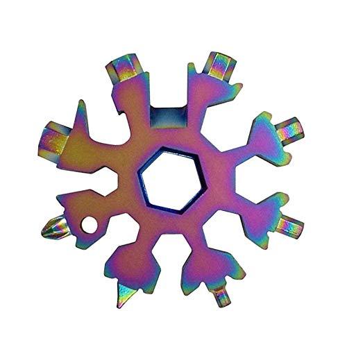 Llave de copo de nieve multifuncional portátil (multicolor)