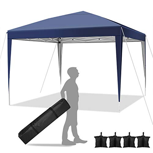 Hikole Gazebo da Giardino Telo Gazebo 3x3 Pieghevole Tenda Gazebo Campeggio Impermeabile Gazebo Feste con 4 Pareti Laterali
