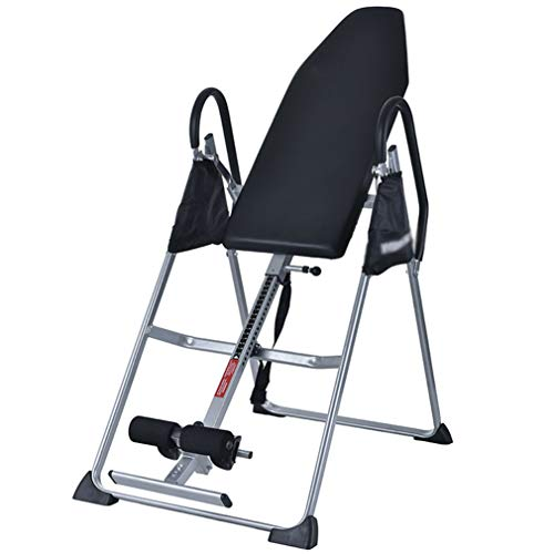 Great Deal! LCJ Folding Inversion Table for Back Exercises, Adjustable Foldable Weight Training, Wei...