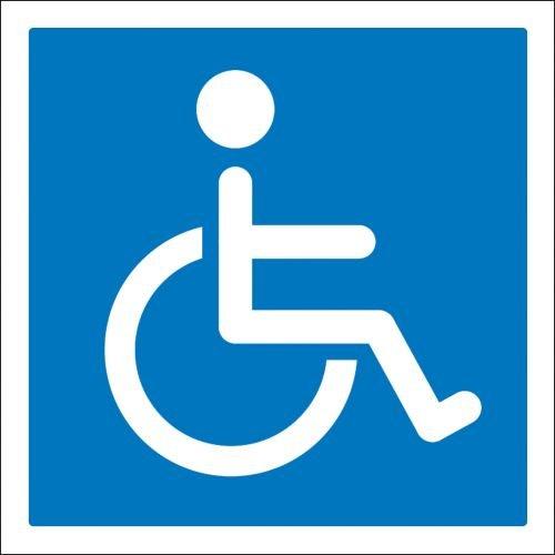 Aufkleber Hinweis - Rollstuhlfahrer Rollstuhl 10cm Größe 2 Stk