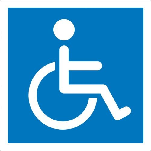 Aufkleber Hinweis - Rollstuhlfahrer Rollstuhl 10cm Größe 1 Stk