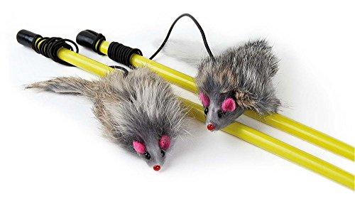 Katzenspielzeug Spielangel mit Maus 2 St. 50cm + 6cm