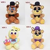 LQT Ltd 1pc - 14cm Five Nights at Fre-ddy's Pendant Dolls FNAF Freddy Bear Mangle Foxy Chica Soft Stuffed Keychain Plush Toy Doll Kids Gifts