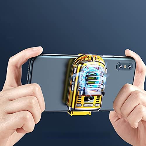 UMSA Refrigerador de teléfono móvil Soporte de Ventilador de refrigeración Semiconductor Control de Temperatura del teléfono Celular Radiador(Yellow)