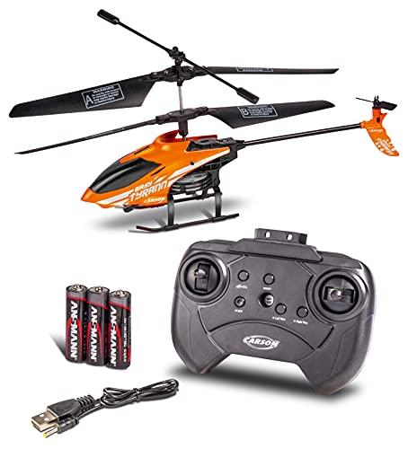 Carson 500507155 Nano Tyrann 230 Gyro IR 2CH, 100{7856a97f8ab94f757131834e6d3d4e6872ac542c9c5bfbaac47ee14ba7b948dc} flugfertig, Ferngesteuerter Helikopter, RC Hubschrauber, inkl. Batterien und Fernsteuerung