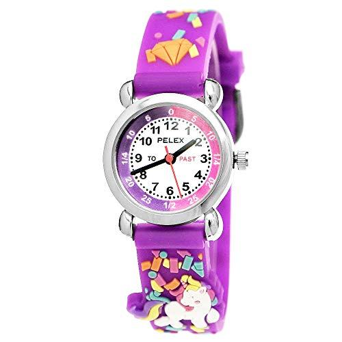 Pelex PLX-046 - Reloj de Pulsera para niños, diseño de Unicornio, Color Morado