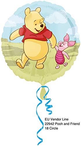 Ballonim® Winnie Pooh rund ca. 45cm Luftballons Folienballon Party Dekoration Geburtstag