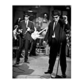 'Blues Brothers'- Vintage Wall Art Print-8 x 10' Black & White Photo Art-Ready to Frame. John Belushi-Dan Aykroyd. Retro Music-TV Home-Office-Bar-Cave Décor. Classic Gift for Saturday Night Live Fans.