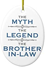 Mars Secret Myth Legend Brother-in-Law Christmas Ornaments Ceramic Double Sided Christmas Tree Decorations Hanging 3 Inches