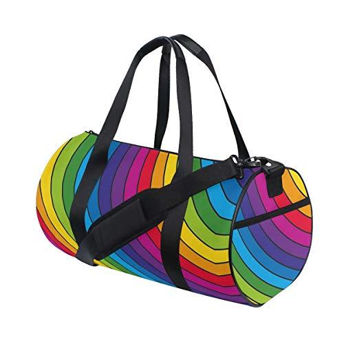 HARXISE Bolsa de Viaje,Patrón de Halloween con Calaveras,Bolsa de Deporte con Compartimento para Sports Gym Bag