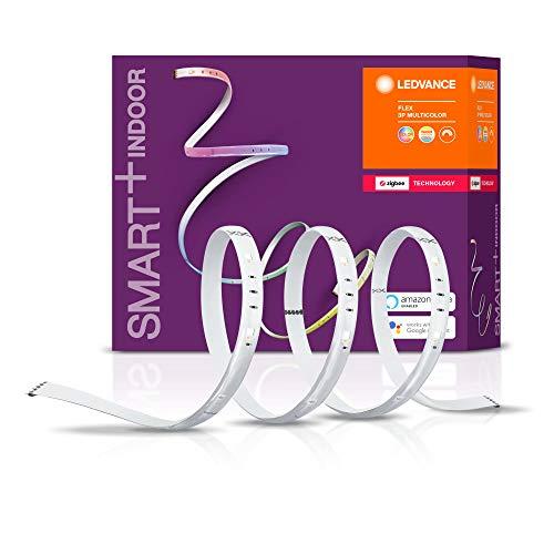 LEDVANCE Smart+ Ruban LED Flex (Kit de démarrage) Connecté | 180cm de longueur | Dimmable | 16 Millions de couleurs | 11W | Compatible avec Amazon Echo Plus, Echo Show et passerelle Philips HUE