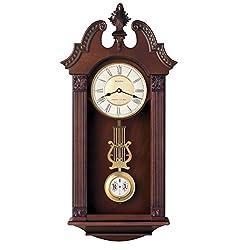 Bulova C4437 Ridgedale Clock, Walnut Finish
