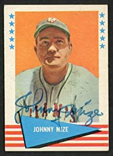 Johnny Mize Autographed 1961 Fleer Card #63 New York Giants - Certified Authentic